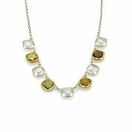 Gurhan Smokey Quartz Sterling & 24k Gold Necklace