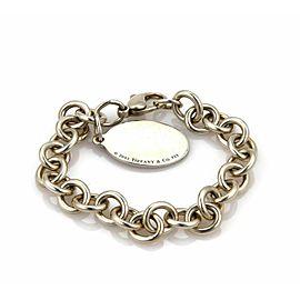 Tiffany & Co. Enamel Sterling USA Flag Oval Charm Chain Bracelet