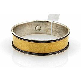 Gurhan Lancelot 24k Gold & Sterling 19mm Wide Bangle