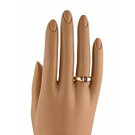 Tiffany & Co. Ruby 18k Yellow Gold Stack Band Ring Size 4