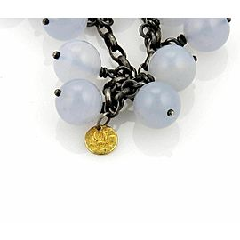 Gurhan POP Chalcedony & Darkened Sterling Silver Multi Bead Chain Bracelet