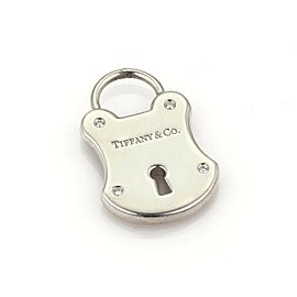 Tiffany & Co. Diamond Sterling Silver Classic Padlock Charm