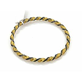 Gurhan Midnight Sterling Silver & 24k Gold Twisted Bangle