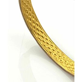 Gurhan Capitone 24k & Sterling 8.5mm Wide Granulation Bangle