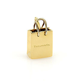 Tiffany & Co. Shopping Bag Charm Pendant in 18k Yellow & White Gold