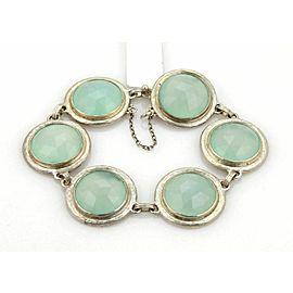 "Gurhan Sterling Gumdrop Aqua Chalcedony 6 Round Link Bracelet 8"" Rt $2,025"
