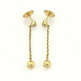 Cartier Love Diamond 18k Yellow Gold Drop Earrings