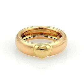 Tiffany & Co. 18k Two Tone Gold Heart Band Ring - Size 6