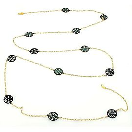 """Gurhan 24k Gold Seed Pearls & Brass Accents Stations 48"""" Necklace"""