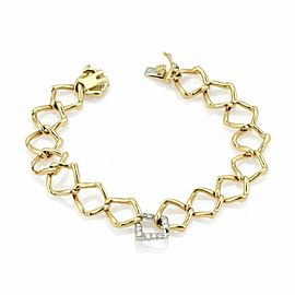 Tiffany & Co. Picasso Diamond Open Link 18k Gold Bracelet