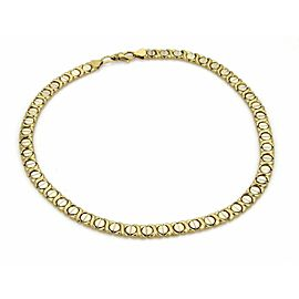 Estate 14k Yellow & White Gold Hugs & Kisses Chain Necklace