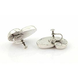 ESTATE WILLIAM SPRATLING STERLING SILVER SHELL SCREW BACK EARRINGS