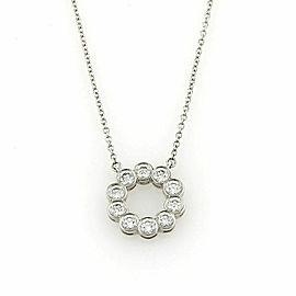 Tiffany & Co. Circle Jazz 0.52ct Diamond Platinum Pendant Necklace