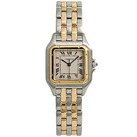 Cartier Panthere 1100 W2502806 Women Quartz Watch Two Tone SS 18K YG 27mm