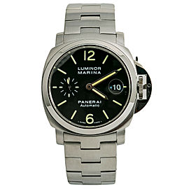 Panerai Luminor Marina PAM00298 Pam 298 Mens Automatic Watch Black Dial SS 40mm