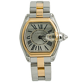 Cartier Roadster 2675 W62016V3 Womens Quartz Watch 18k Two Tone 31mm