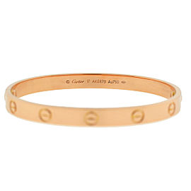 Cartier 18k Rose Gold LOVE Bracelet Size 17 NEW STYLE