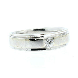 Estate 14k White gold .20ct Diamond Men's Ring 8.1 Grams Size 9