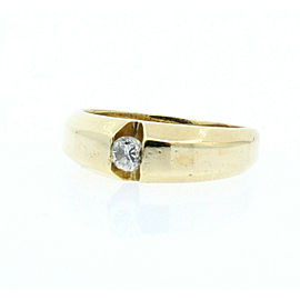 Estate 14k Yellow gold .20ct Round Diamond Men's Ring Size 7.75