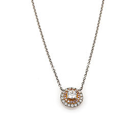 Tiffany & Co. Soleste Pink & White Diamonds Platinum & 18k Gold Pendant