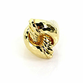 Henry Dunay 18k Yellow Gold Faceted Design Large Knot Ring Size 7