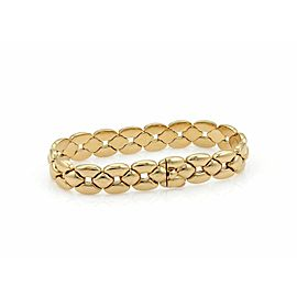 Cartier 18k Yellow Gold 12mm Wide Fancy Link Bracelet
