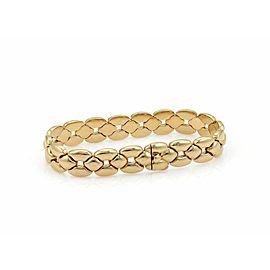 Cartier 18k Yellow Gold 12mm Wide Fancy Link Bracelet