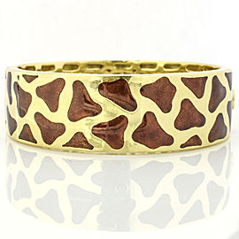 Roberto Coin 18k Yellow Gold Enamel Giraffe Bangle Bracelet