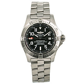Breitling Avenger II Seawolf A17330 Mens Automatic Watch With Box & Papers 45mm