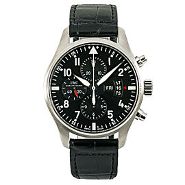 IWC Pilot Chronograph IW377701 Mens Watch Automatic Stainless Black Dial 43mm
