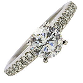 .69 Carat Scott Kay 14k White Gold Diamond Luminaire Engagement Ring