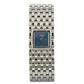 Cartier Panthere Ruban 2420 Women Quartz Watch Mother of Pearl Dial SS 21mm