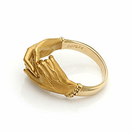 Carrera y Carrera Diamond His & Her 18k Yellow Gold Hand Ring