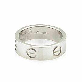 Cartier Love Platinum 5.5mm Wide Band Ring Size 48 US 4.5 w/Cert
