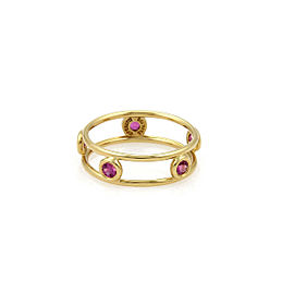 Tiffany & Co. Pink Sapphire By The Yard 18k Gold Band Ring