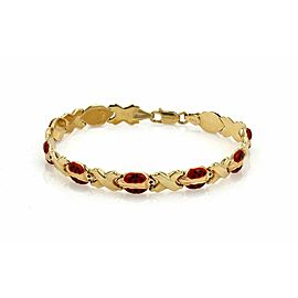 Enamel Ladybug X Design 14k Yellow Gold Link Bracelet