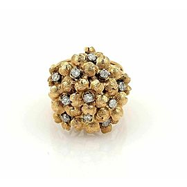 Estate Diamonds Spring Flowers 18k Yellow Gold Cluster Ring