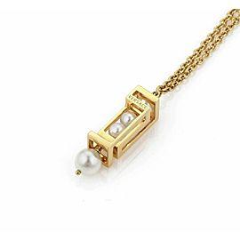 Versace Pearls 18k Yellow Gold Chandelier Pendant