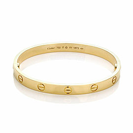 Cartier Love Bangle 18k Yellow Gold Screw Motif Size 17
