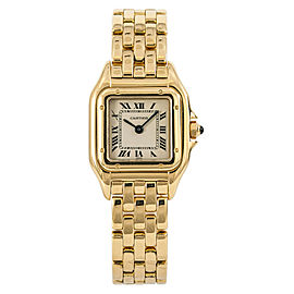 Cartier Panthere 8057917 Women Watch Quartz 18K Yellow Gold Off-White Dial 22mm