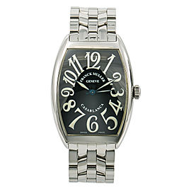 Franck Muller Casablanca 6850 Unisex Watch Automatic Stainless Black Dial 34mm