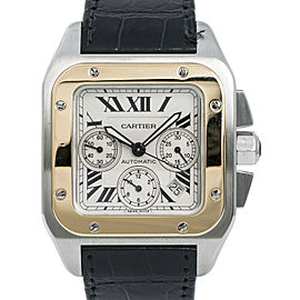 Cartier Santos 100 XL 2740 W20096Y1 Mens Automatic Watch SS 41mm