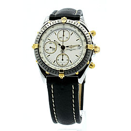 Breitling Chronomat Steel & 18k Gold Automatic White Dial Mens Watch Ref B13048
