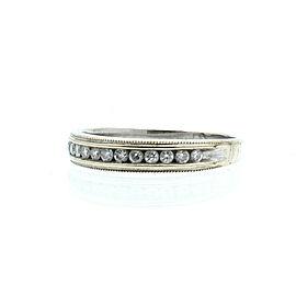 14k White Gold .30ct Diamond Ladies Ring Band Size 8