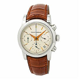 Girard Perregaux F1 Chronograph 8021 Mens Automatic Watch Cream Dial 37mm
