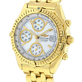 Breitling K13050.1 18k Yellow Gold Chronomat MOP Dial Automatic Watch