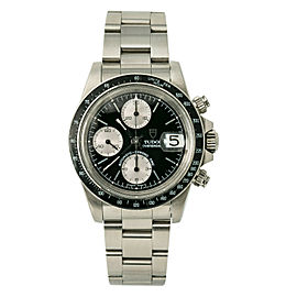 Tudor Vintage Oysterdate Big Block 79160 Mens Automatic Watch Chronograph 40mm