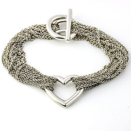 Tiffany & Co. Sterling Silver Heart Multi-Strand Toggle Bracelet