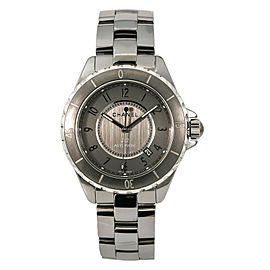 Chanel J12 H2979 Unisex Automatic Watch Gray Dial Ceramic And Titanium 40mm