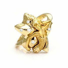 Carrera y Carrera Diamond 18k Yellow Gold Mermaid Starfish Ring